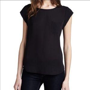 Joie • 100% Silk Rancher Short Sleeve Pocket Top